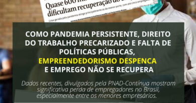 Com pandemia persistente, direito do trabalho precarizado e falta de políticas públicas, empreendedorismo despenca e emprego não se recupera